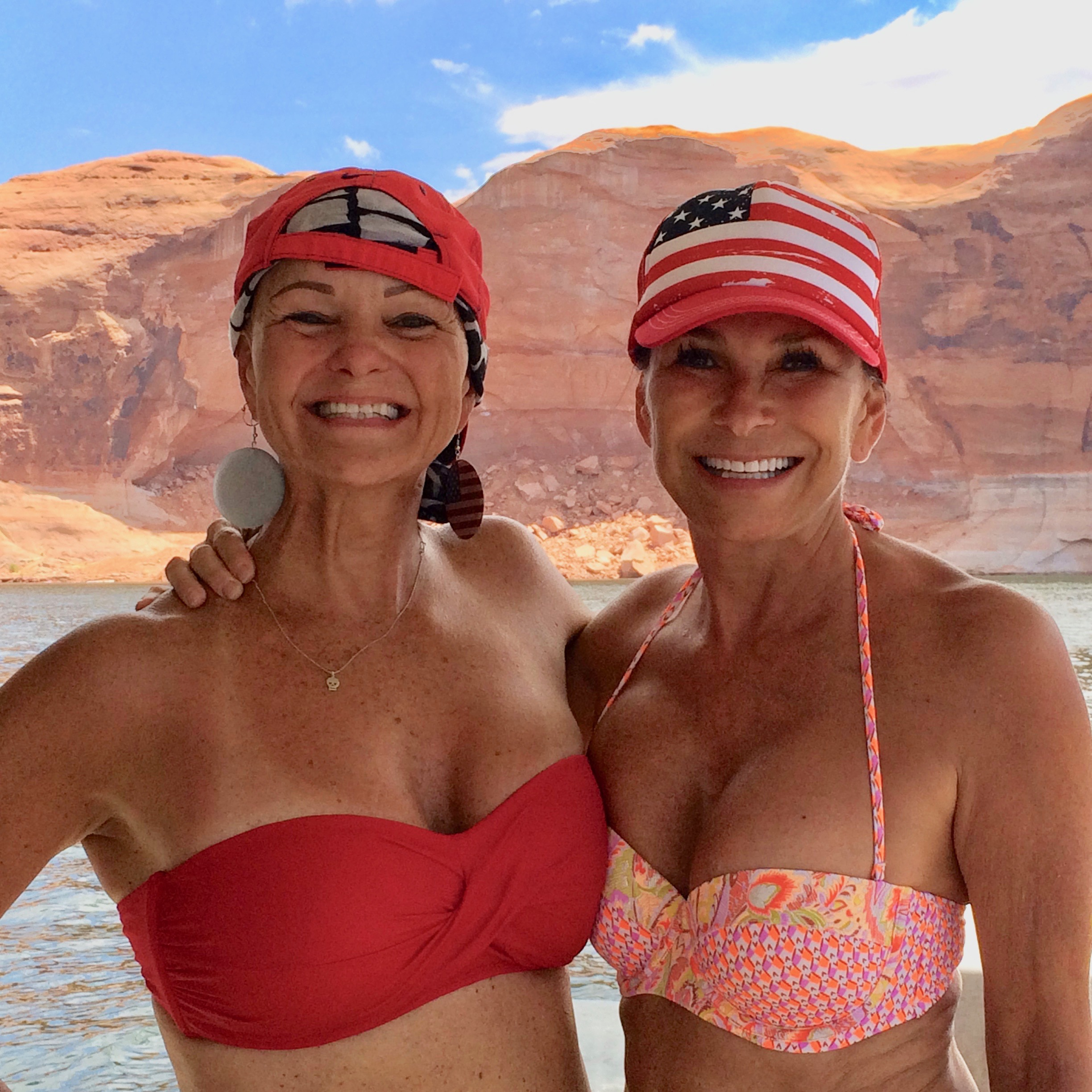 My sweet sister Glenda - having fun at Lake Powell